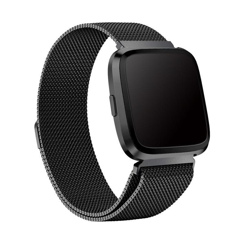 Armbånd Milanese Fitbit Versa 3/Sense svart