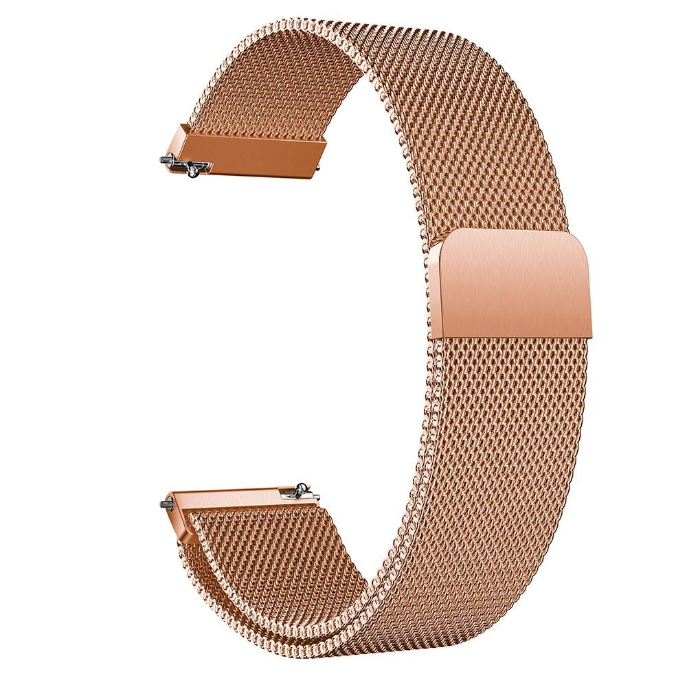 Armbånd Milanese Huawei Watch GT 2 42mm rosegull
