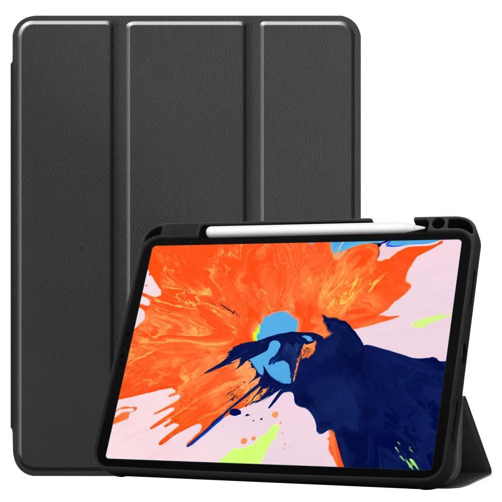 Etui Tri-fold Pencil-holder iPad Pro 12.9 2020 svart