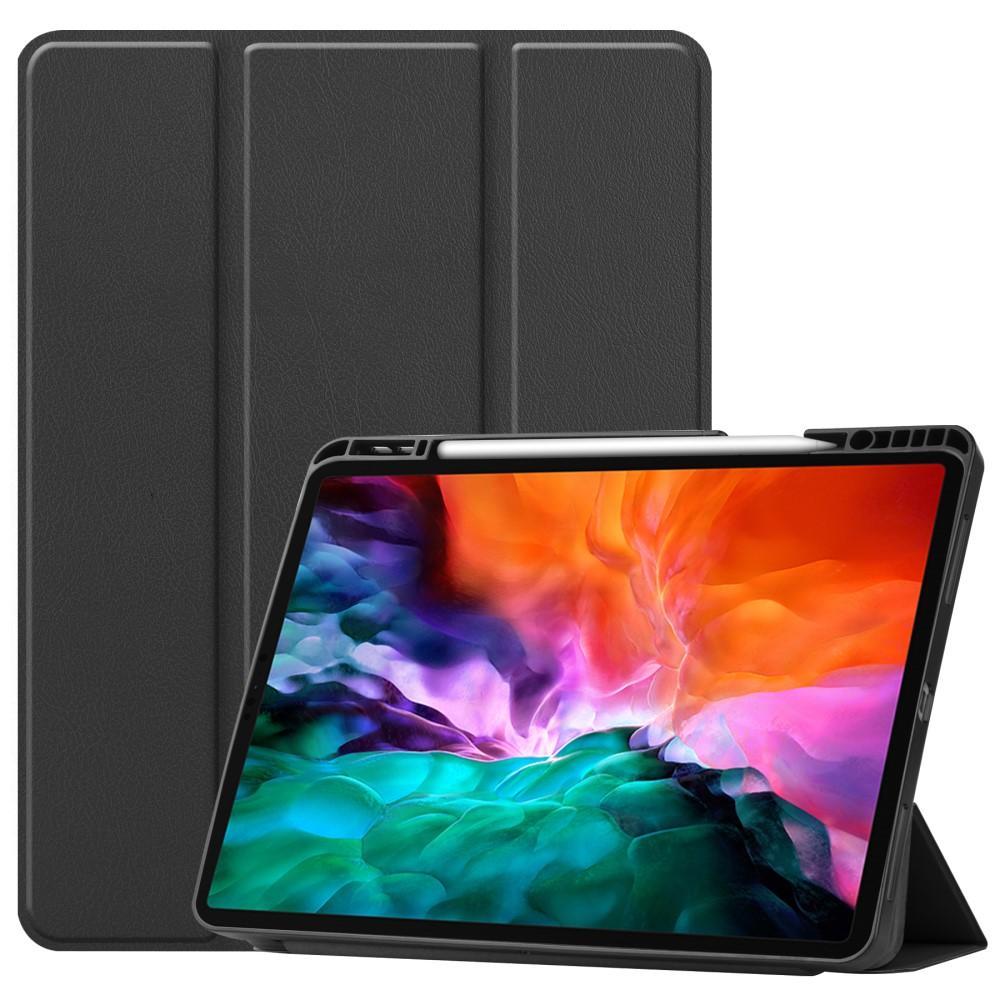 Etui Tri-fold Pencil-holder iPad Pro 12.9 2021 svart