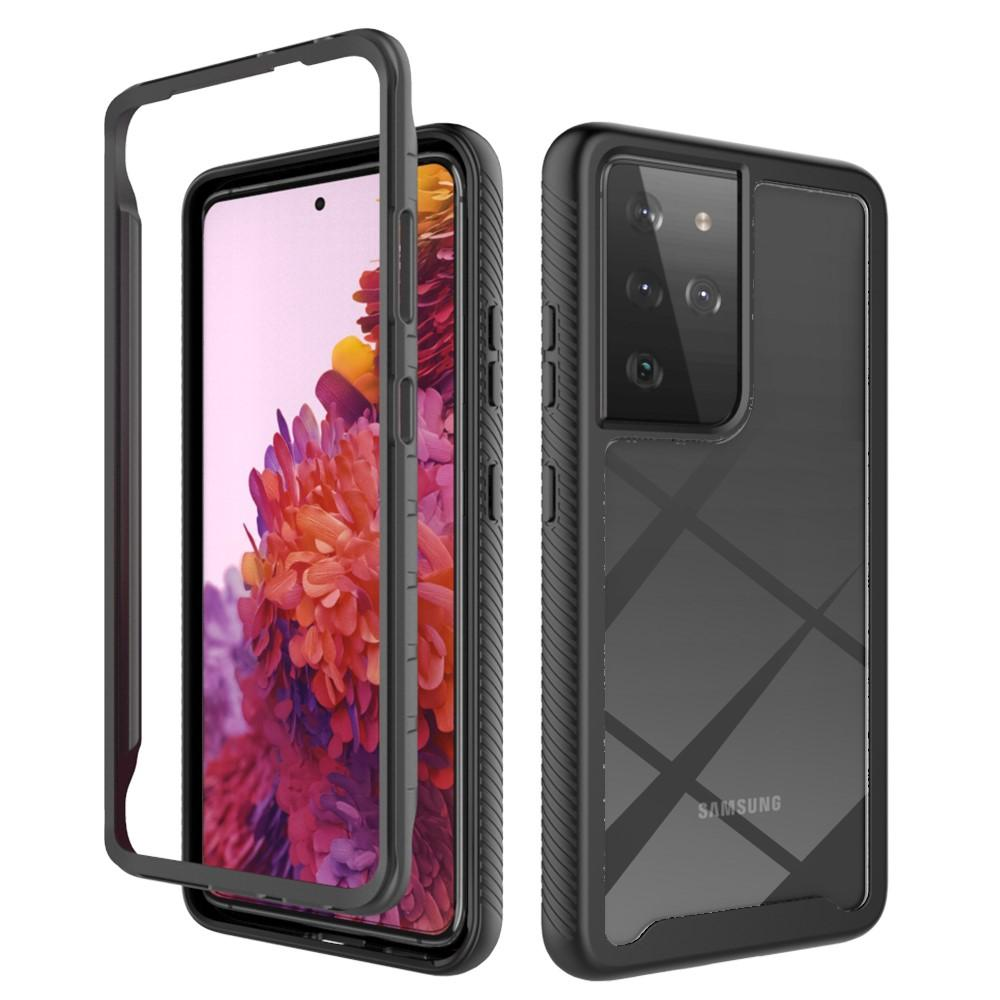 Full Cover Deksel Samsung Galaxy S21 Ultra svart