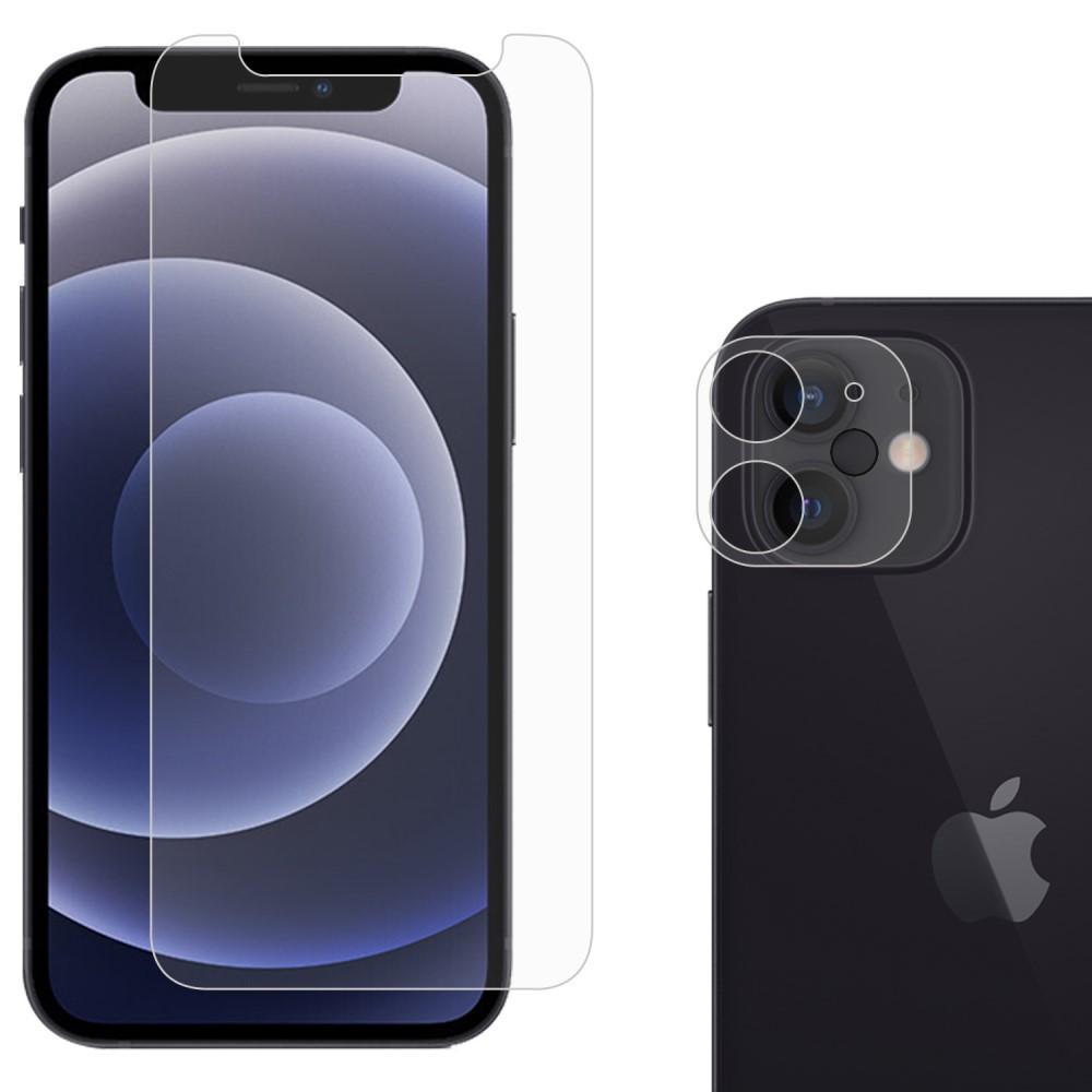 Herdet glass Skjerm- og Linsebeskyttelse iPhone 12 Mini
