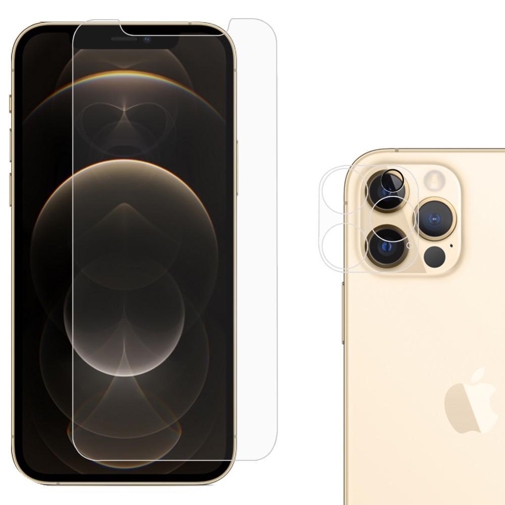 Herdet glass Skjerm- og Linsebeskyttelse iPhone 12 Pro Max