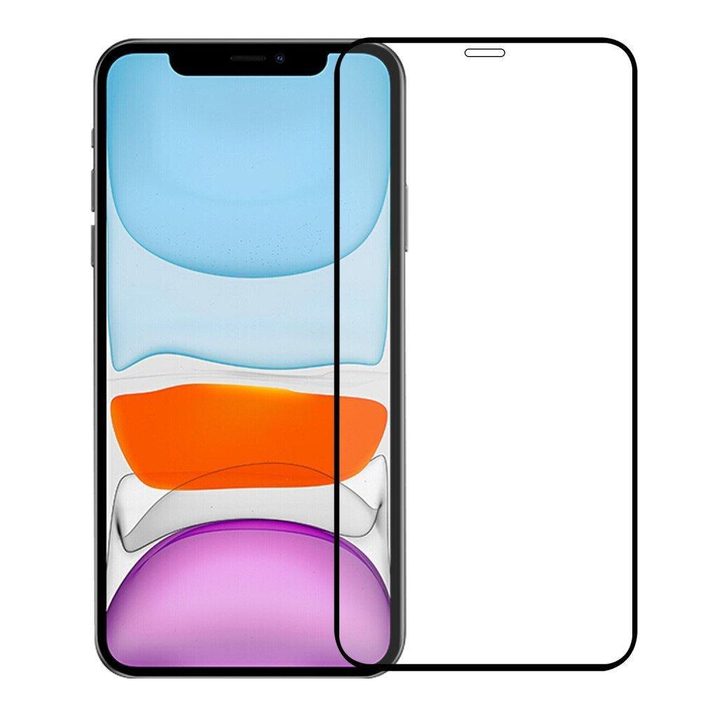 Heldekkende Skjermbeskytter Herdet Glass iPhone 12/12 Pro svart