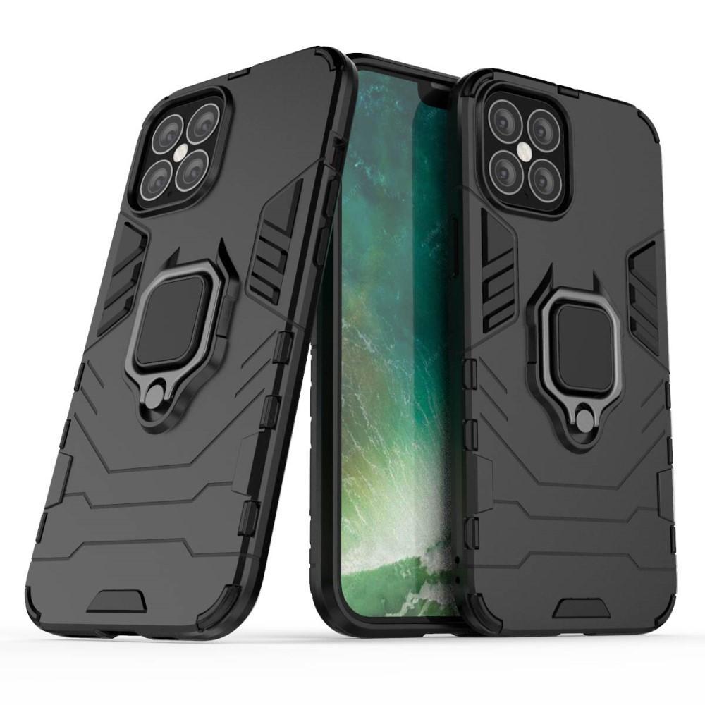 Hybriddeksel Tech Ring iPhone 12 Pro Max svart