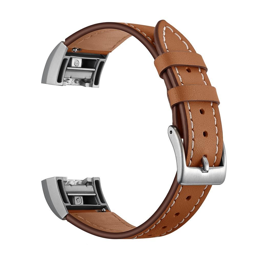Lærarmbånd Fitbit Charge 2 brun
