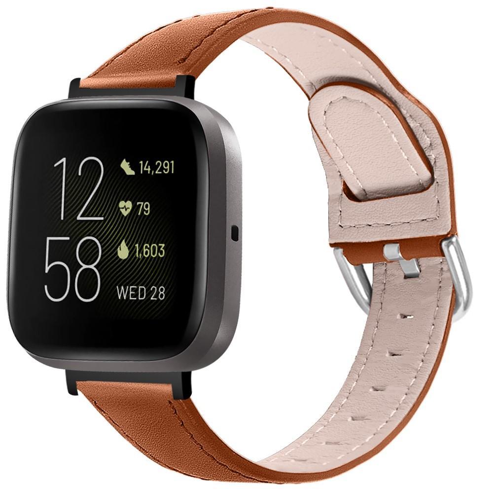 Lærarmbånd Fitbit Versa 3/Sense brun