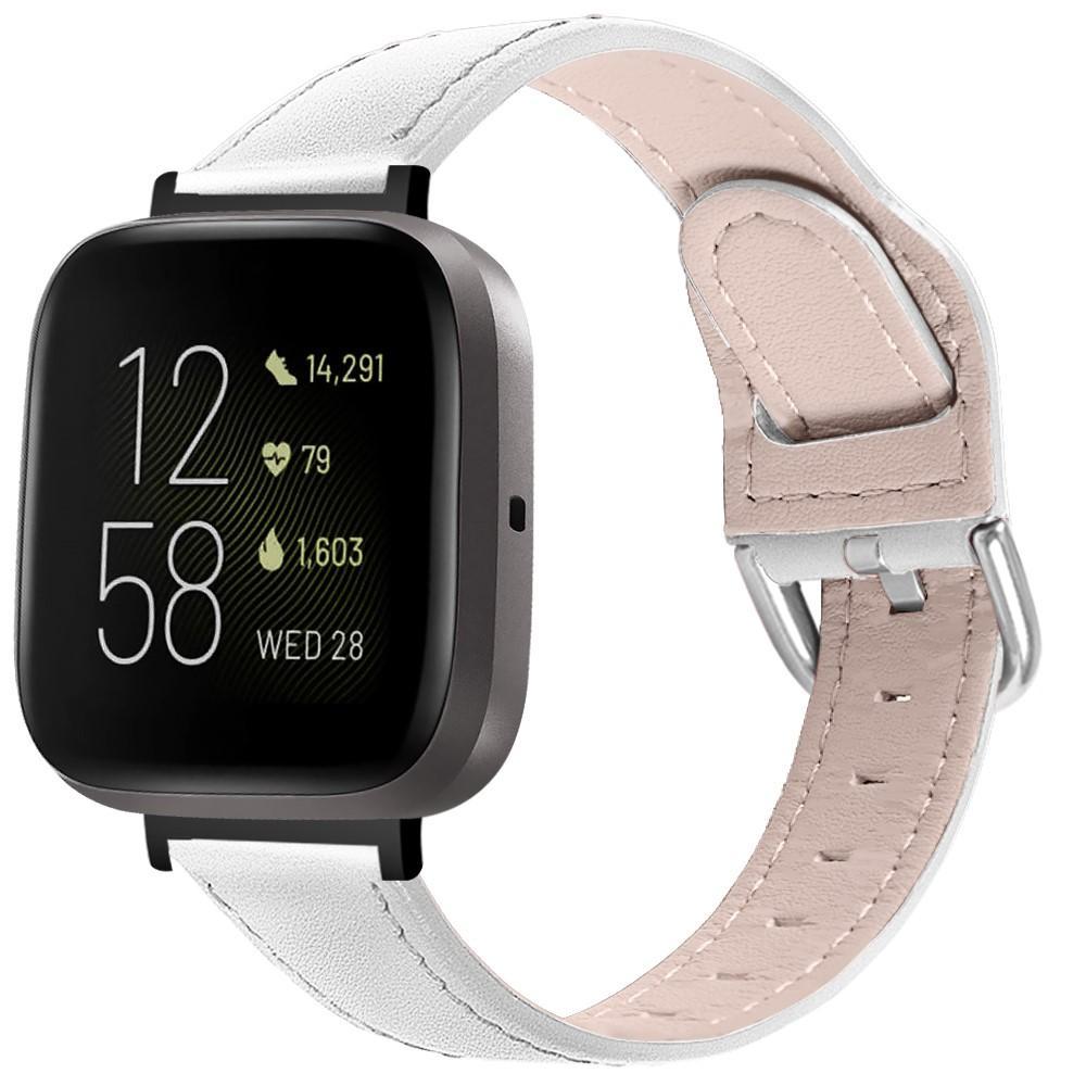 Lærarmbånd Fitbit Versa 3/Sense hvit