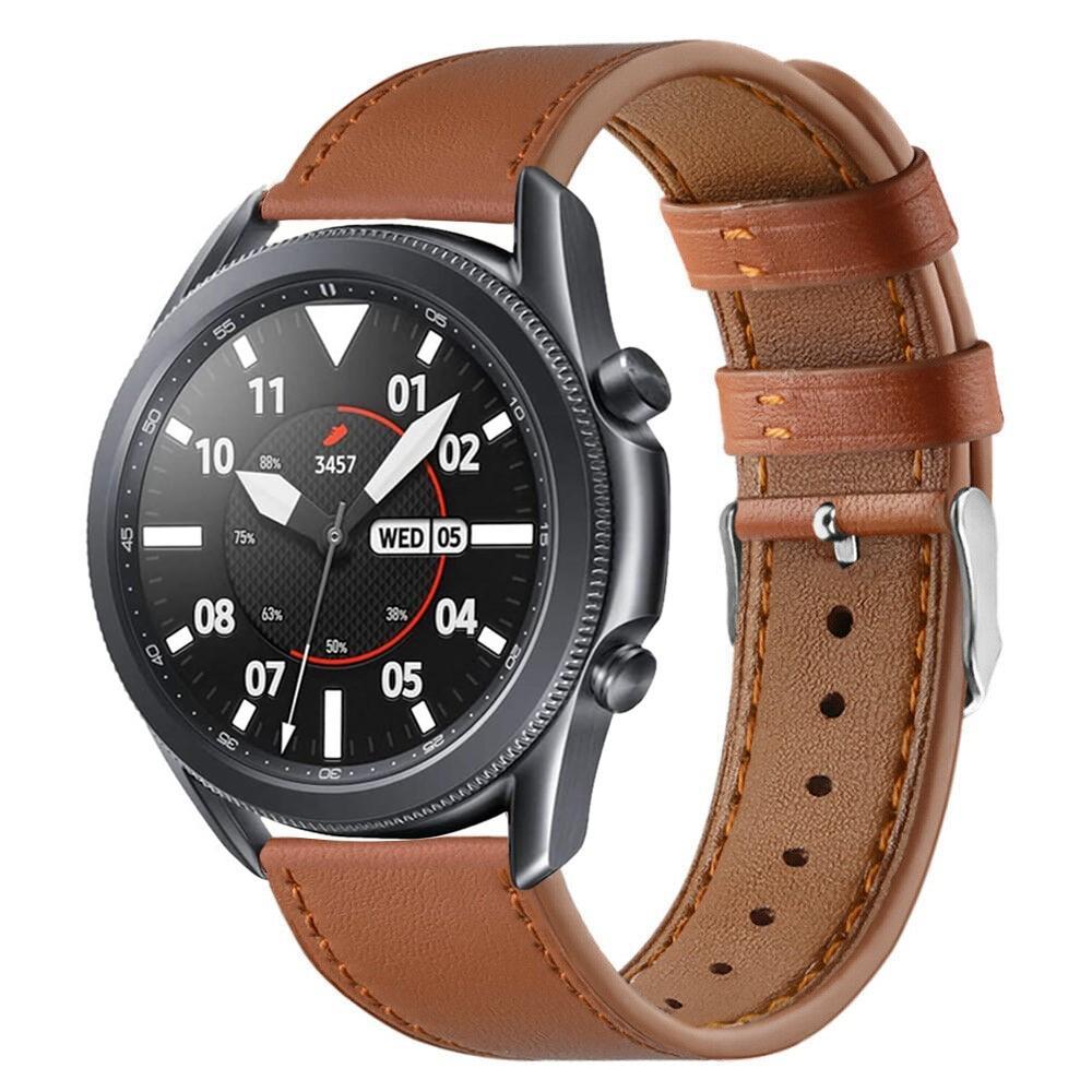Lærarmbånd Samsung Galaxy Watch 3 45mm brun