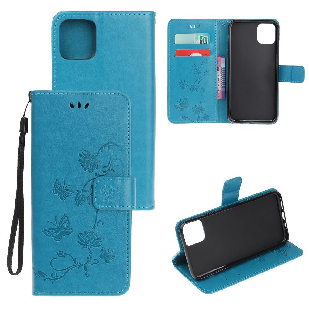 Lærveske Sommerfugler iPhone 12 Mini blå