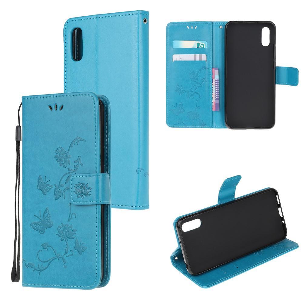 Lærveske Sommerfugler Samsung Galaxy Xcover 5 blå