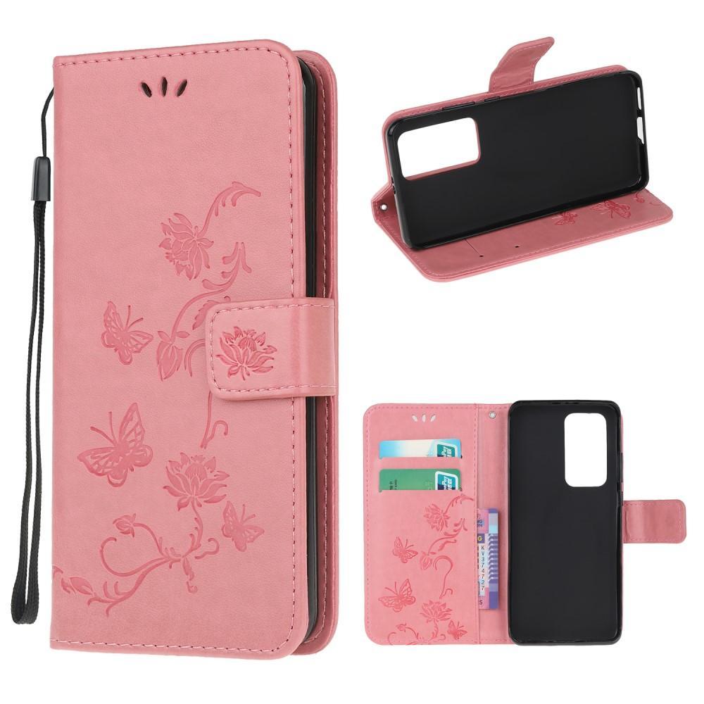 Lærveske Sommerfugler Xiaomi Mi 10T/10T Pro rosa