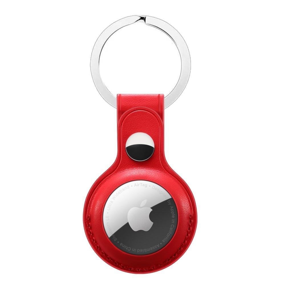 Lærdeksel med nøkkelring Apple AirTag rød