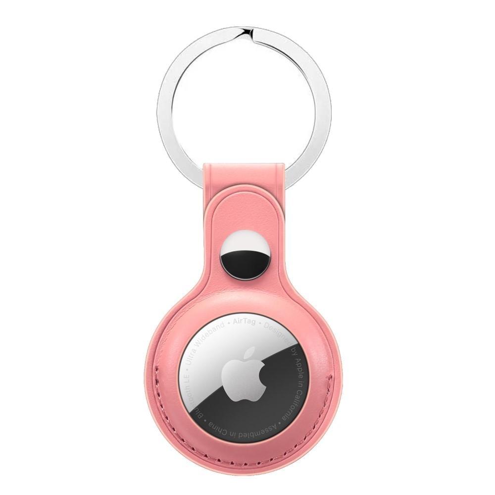 Lærdeksel med nøkkelring Apple AirTag rosa