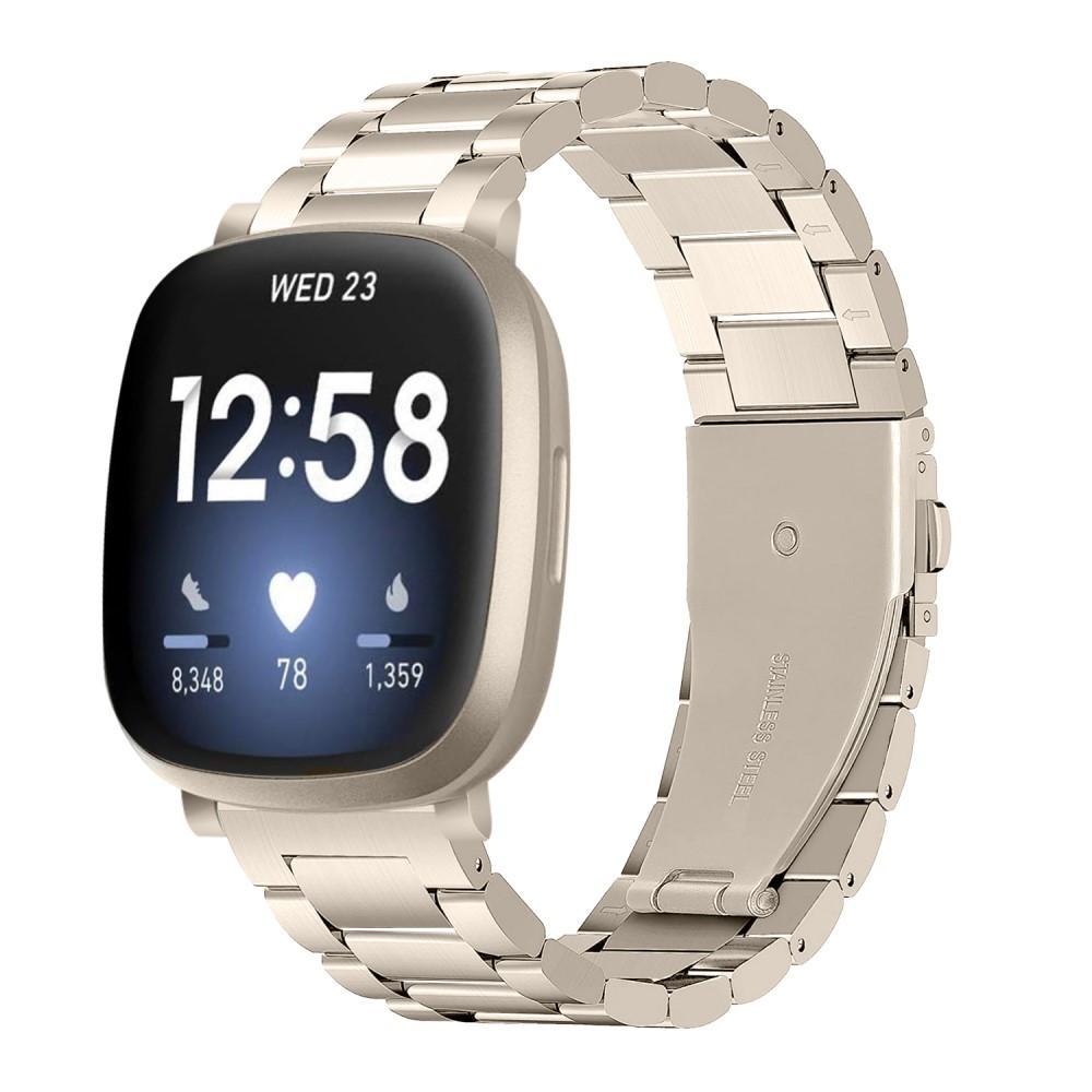 Metallarmbånd Fitbit Versa 3/Sense gull