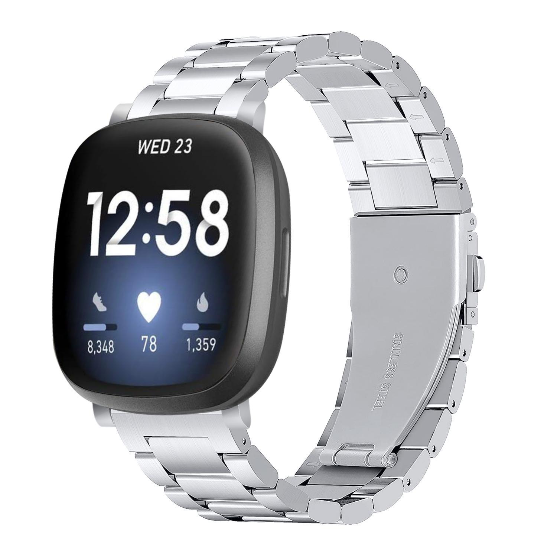 Metallarmbånd Fitbit Versa 3/Sense sølv