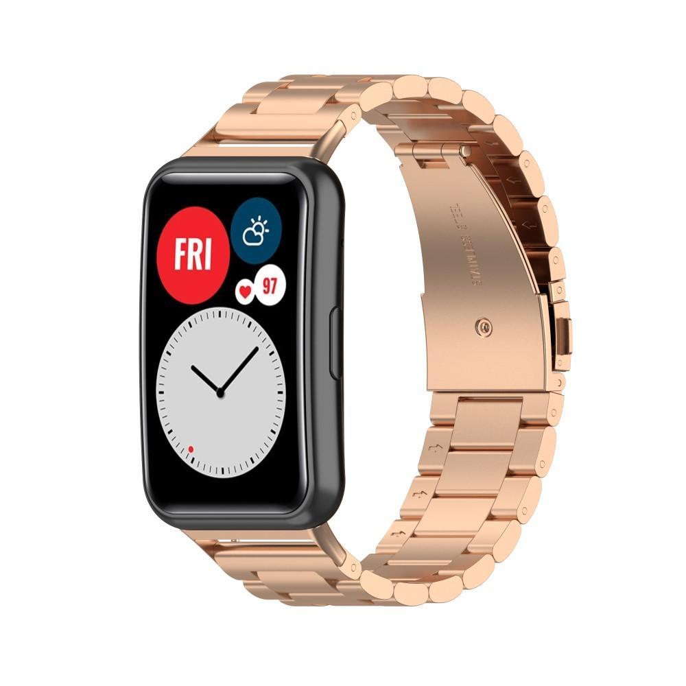 Metallarmbånd Huawei Watch Fit rosegull