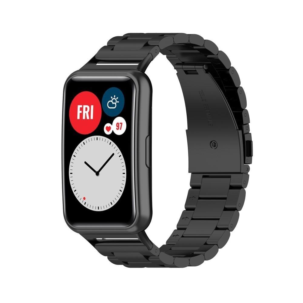 Metallarmbånd Huawei Watch Fit svart