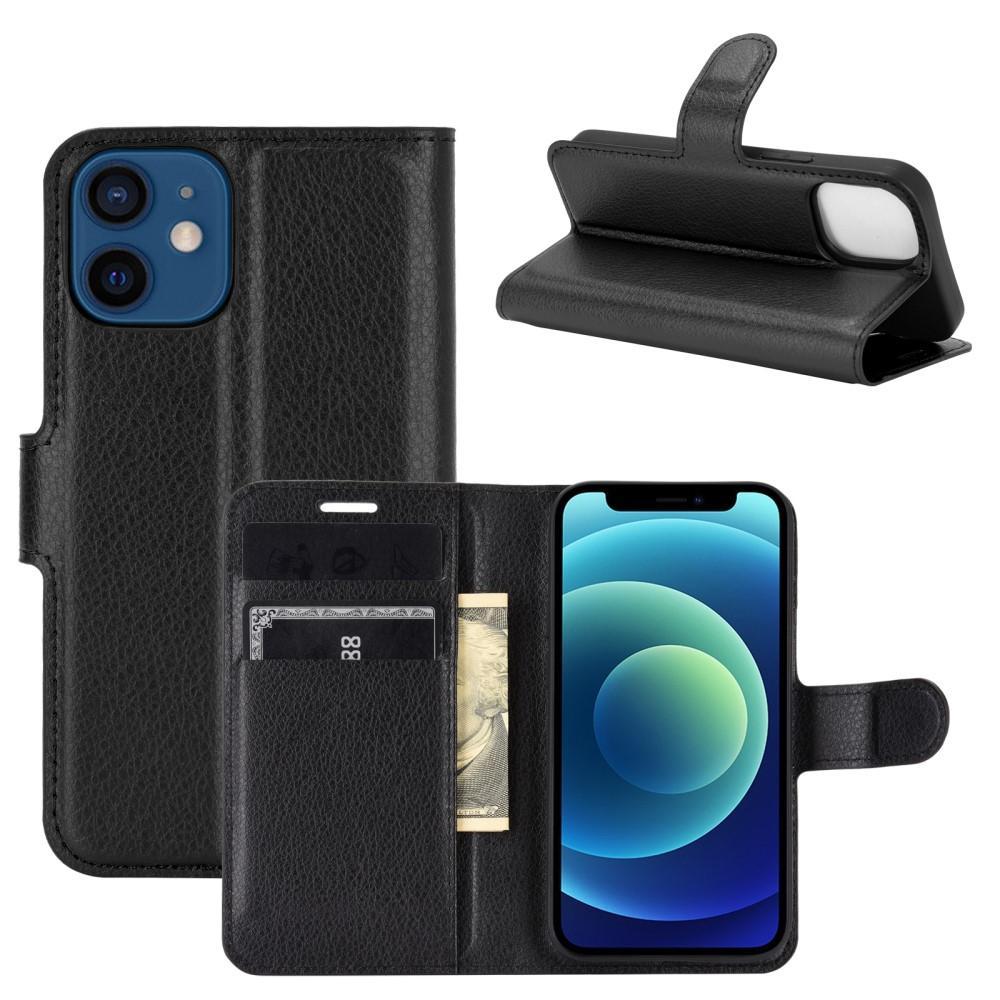 Mobilveske Apple iPhone 12 Mini svart