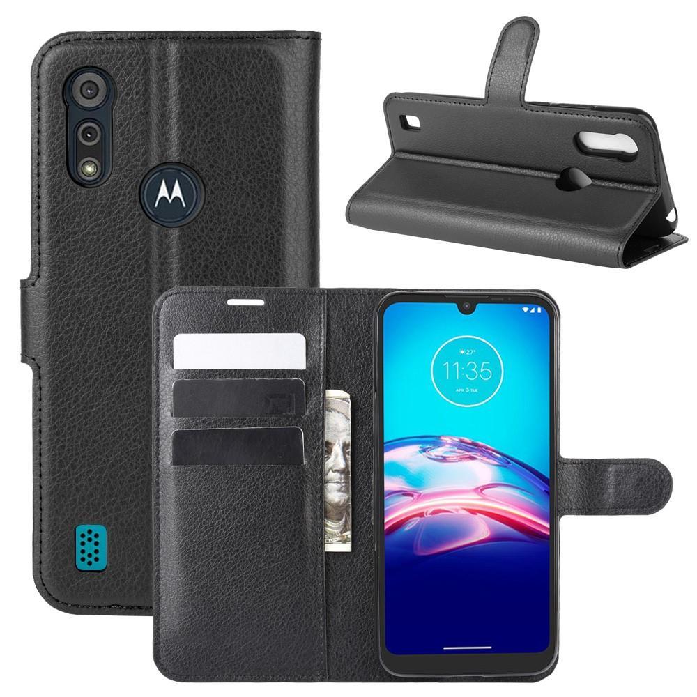 Mobilveske Motorola Moto E6s svart