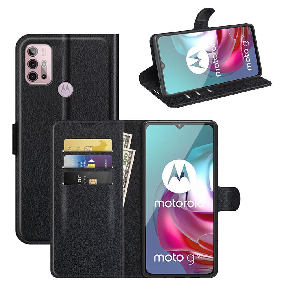Mobilveske Motorola Moto G10/G30 svart