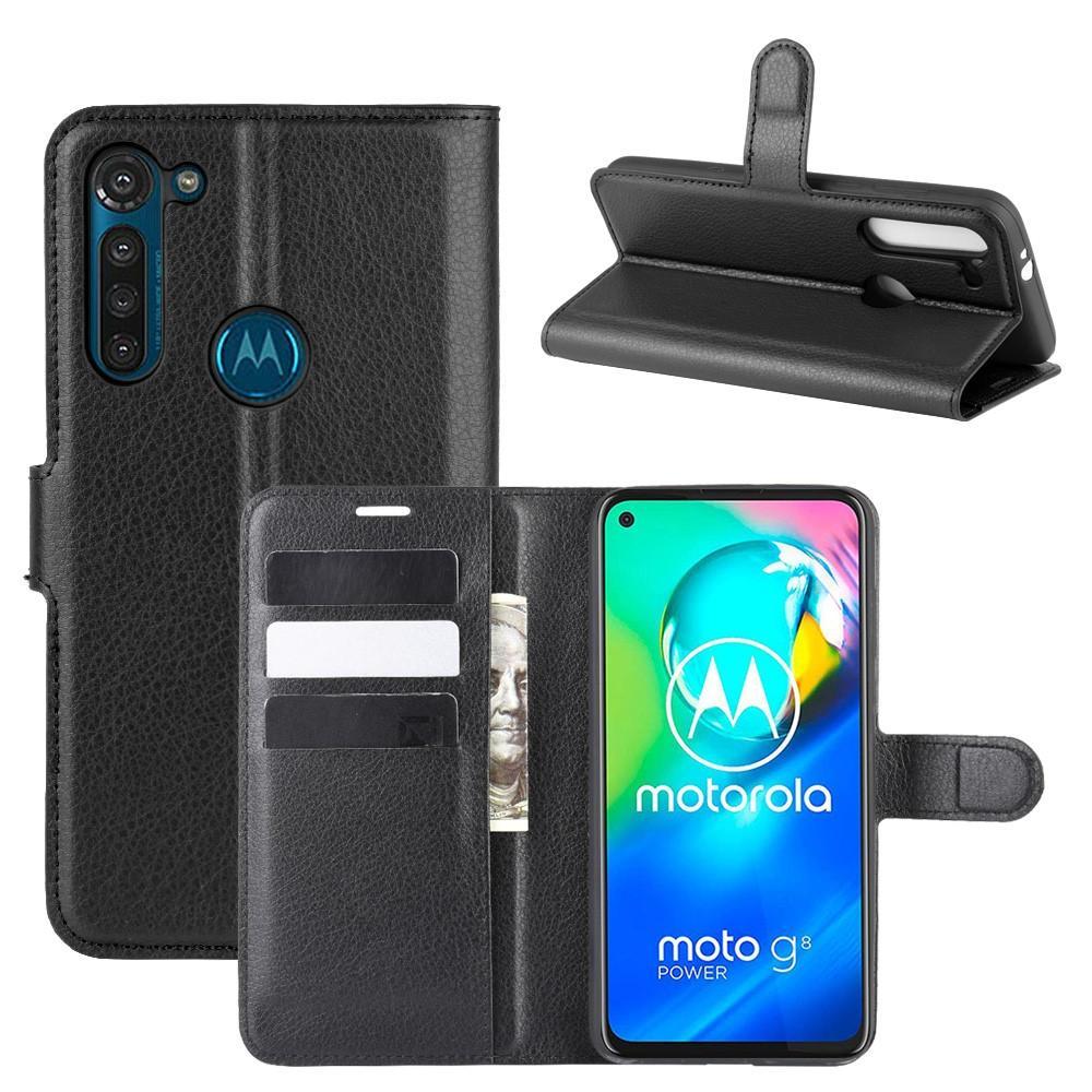 Mobilveske Motorola Moto G8 Power svart