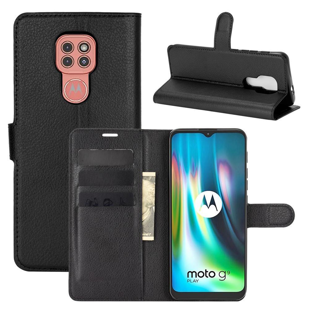 Mobilveske Motorola Moto G9 Play svart