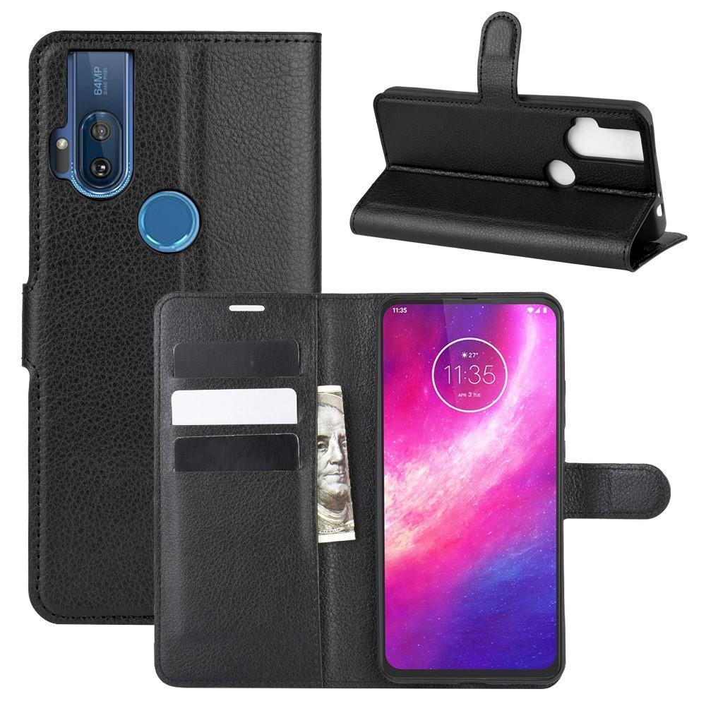 Mobilveske Motorola One Hyper svart