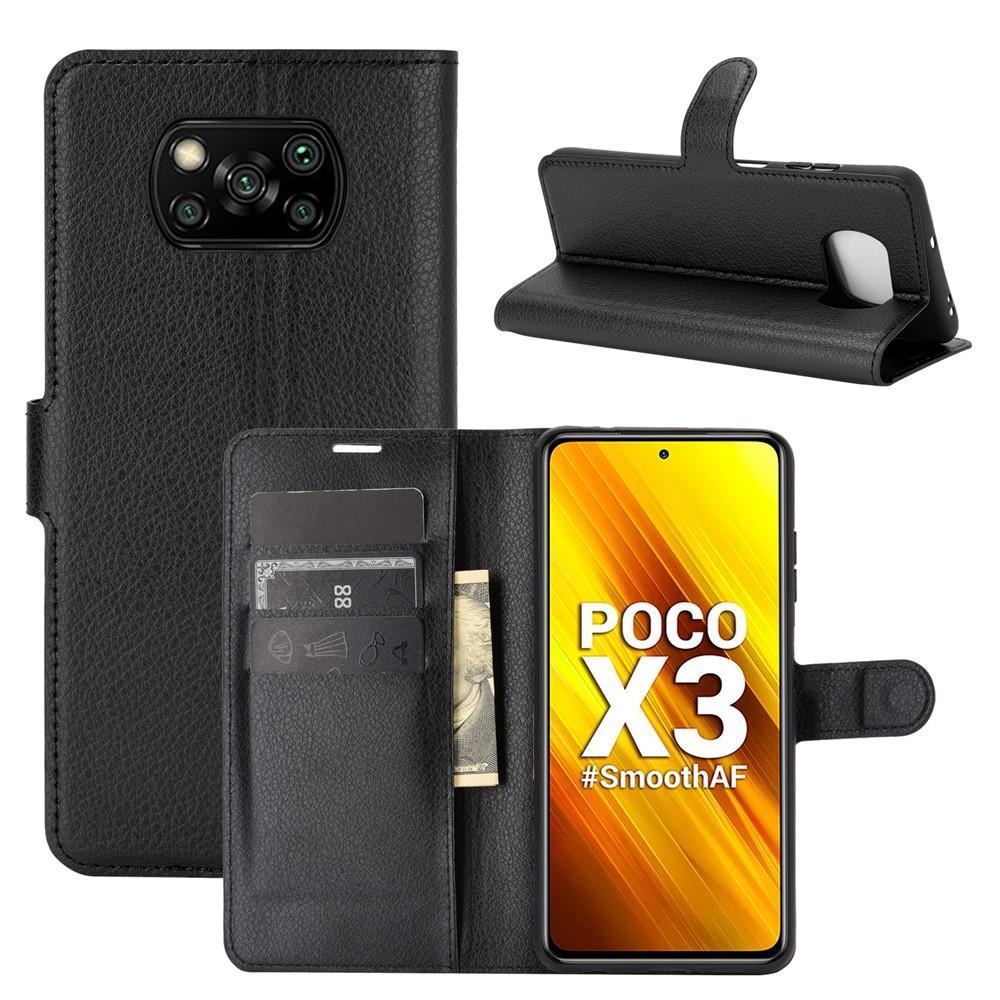 Mobilveske Poco X3 NFC svart