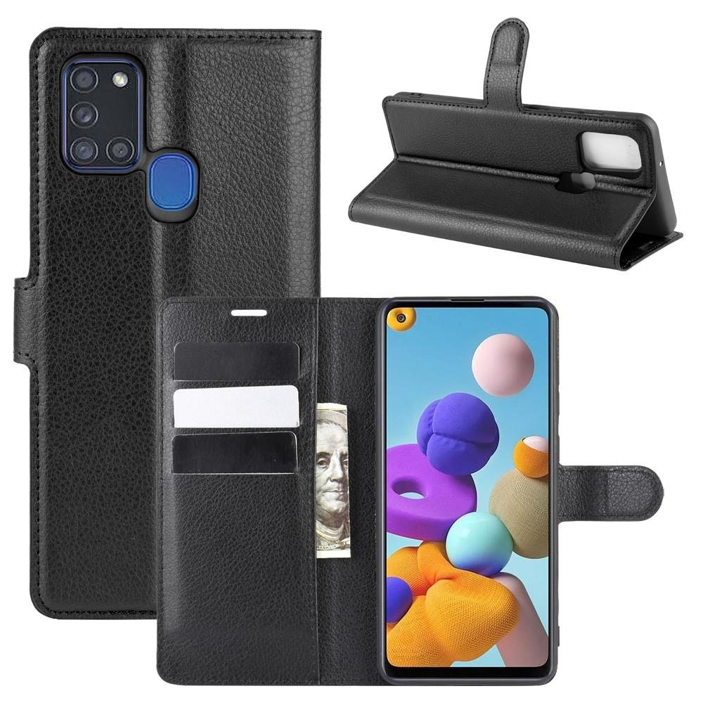 Mobilveske Samsung Galaxy A21s svart