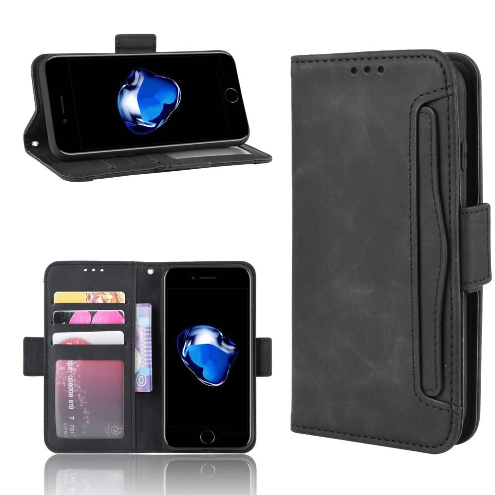 Multi Lommebokdeksel iPhone 7/8/SE 2020 svart