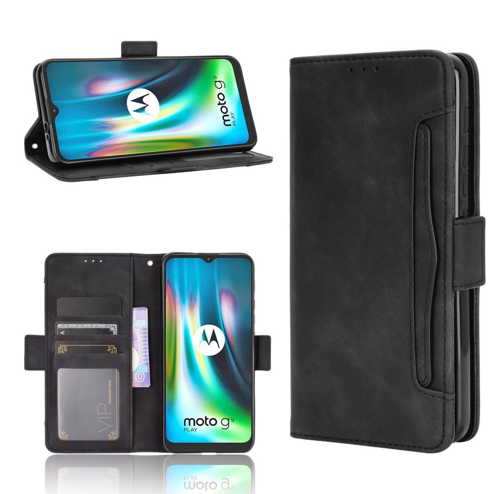 Multi Lommebokdeksel Motorola Moto E7 Plus svart