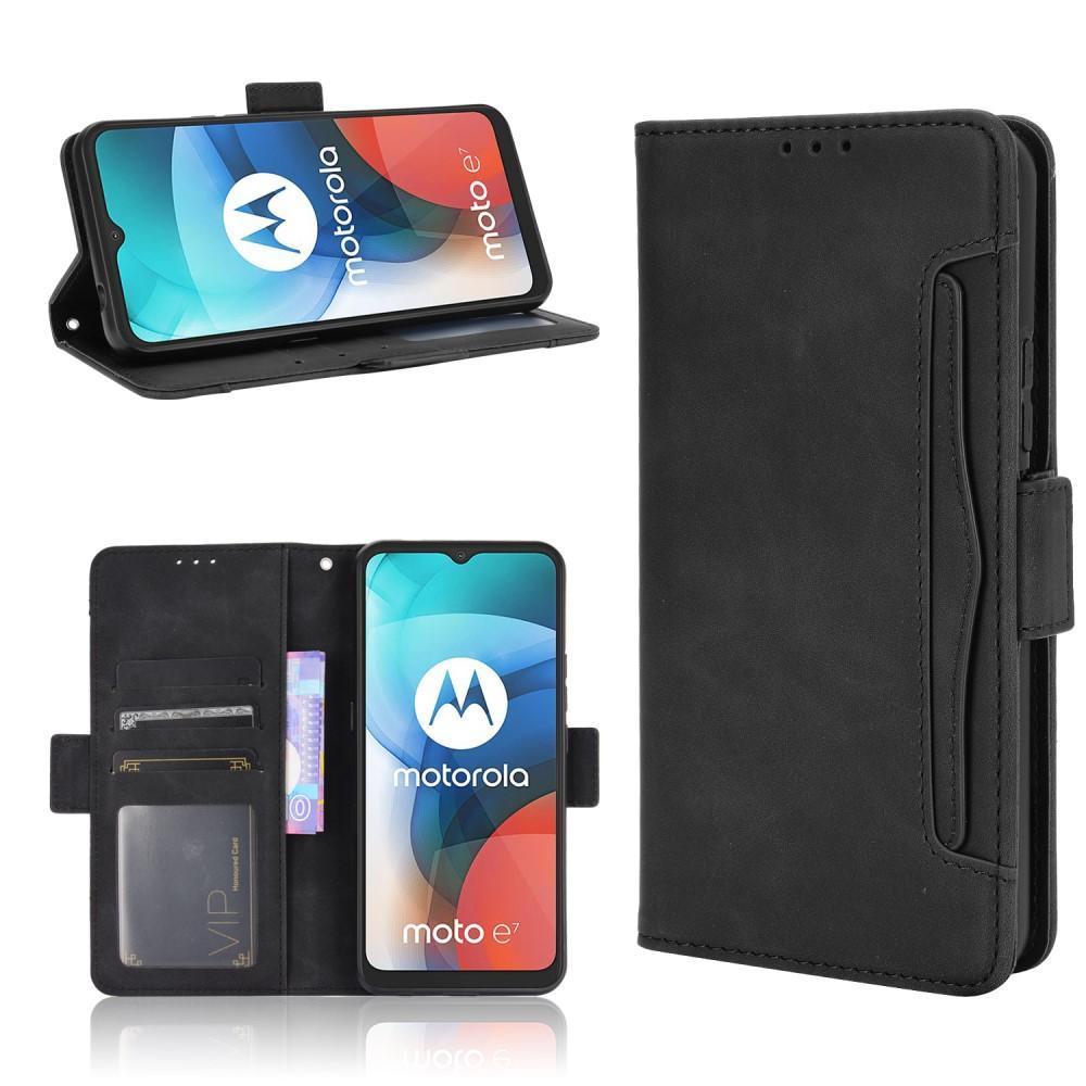 Multi Lommebokdeksel Motorola Moto E7 svart