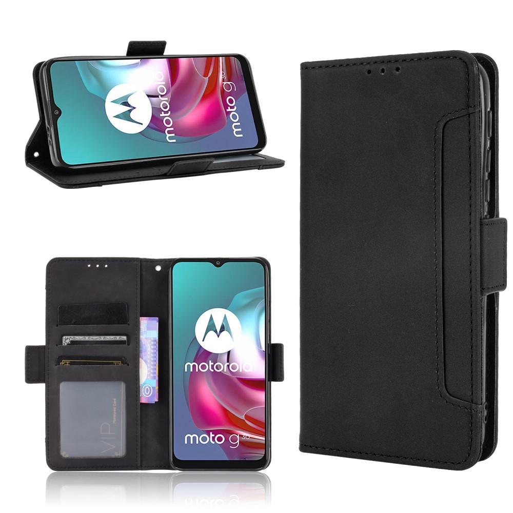 Multi Lommebokdeksel Motorola Moto G10/G20/G30 svart