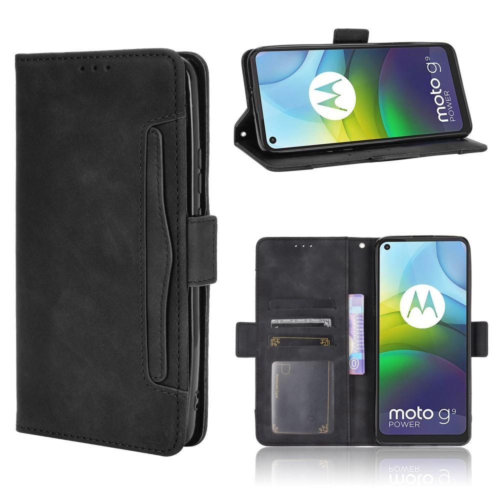 Multi Lommebokdeksel Motorola Moto G9 Power svart