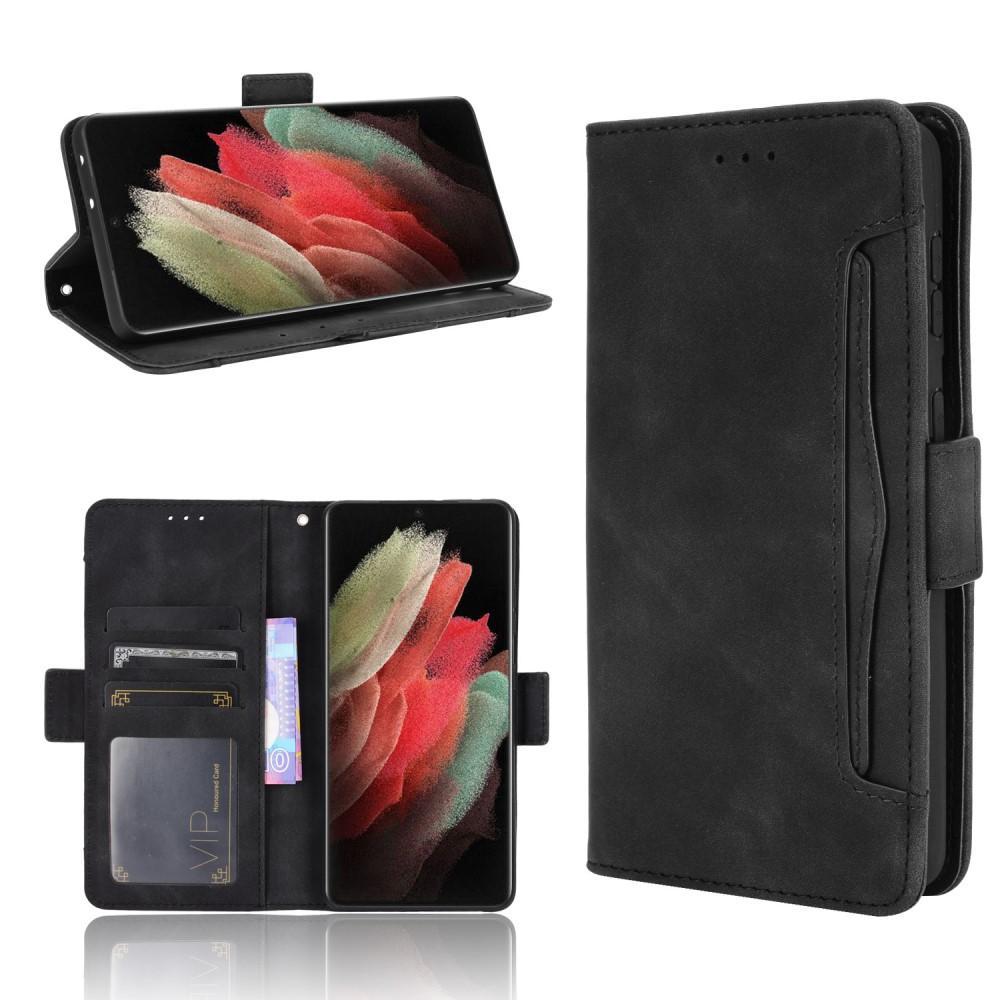 Multi Lommebokdeksel Samsung Galaxy S21 Ultra svart