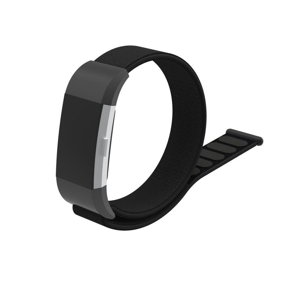Nylonarmbånd Fitbit Charge 2 svart