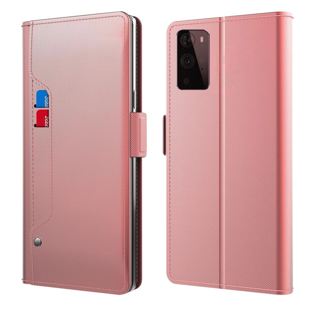 Lommebokdeksel Speil OnePlus 9 Pro Rosa Gull