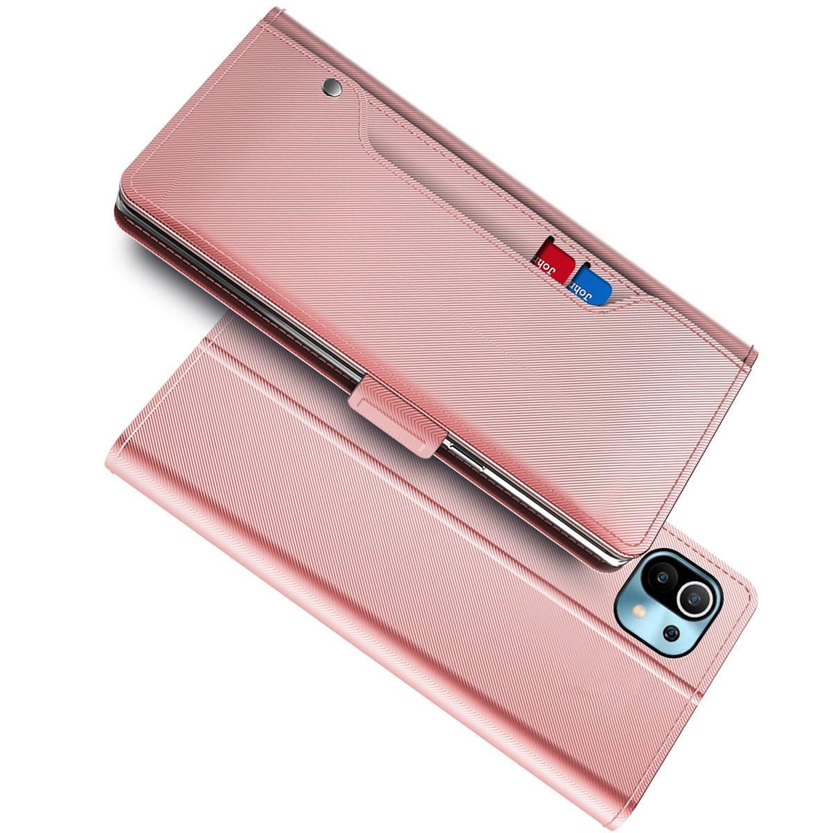Lommebokdeksel Speil Xiaomi Mi 11 Rosa Gull