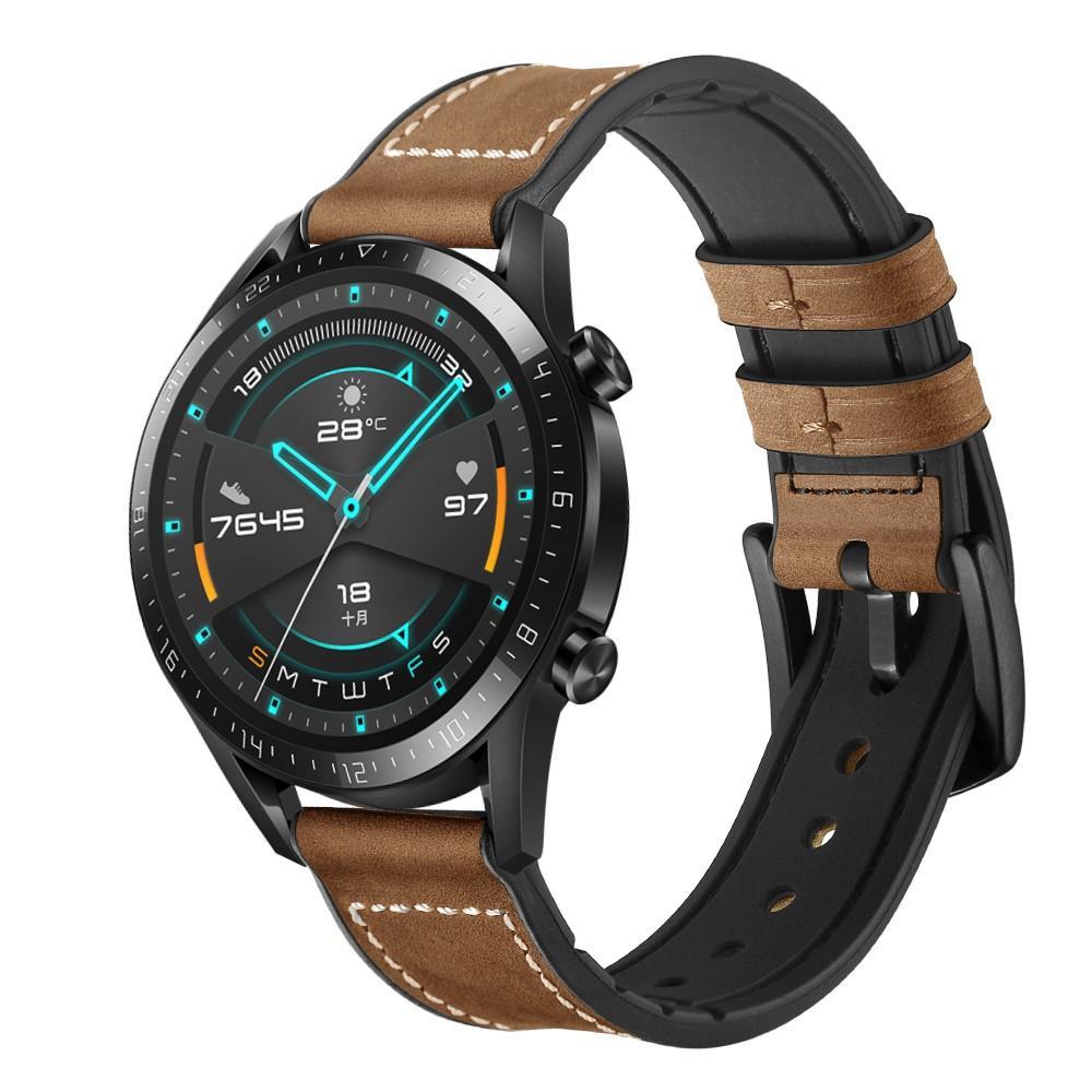 Premium Lærarmbånd Huawei Watch GT 2 Pro/GT 2 46mm/GT 2e brun