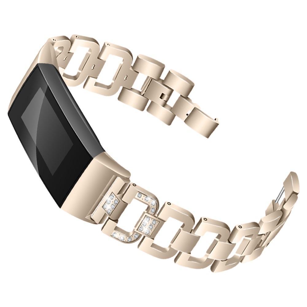 Rhinestone Bracelet Fitbit Charge 3/4 Gold