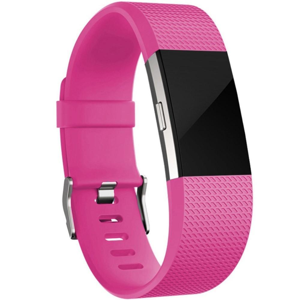 Silikonarmbånd Fitbit Charge 2 cerise