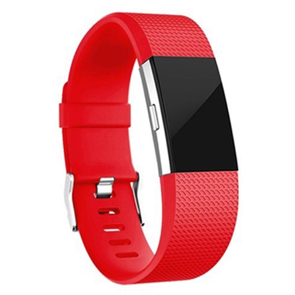 Silikonarmbånd Fitbit Charge 2 rød