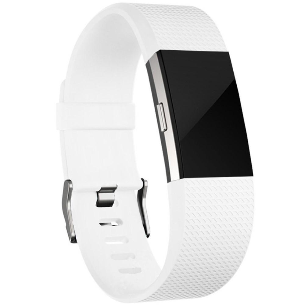 Silikonarmbånd Fitbit Charge 2 hvit