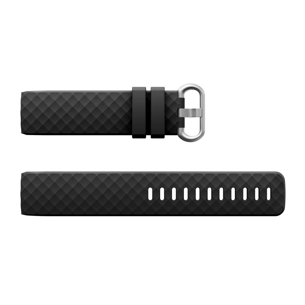 Silikonarmbånd Fitbit Charge 3/4 svart