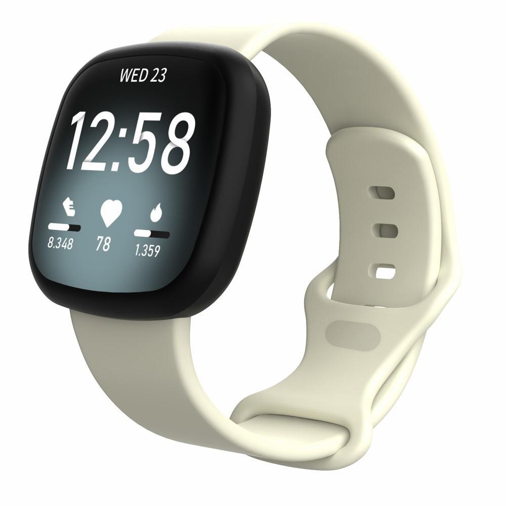 Silikonarmbånd Fitbit Versa 3/Sense beige (Small)