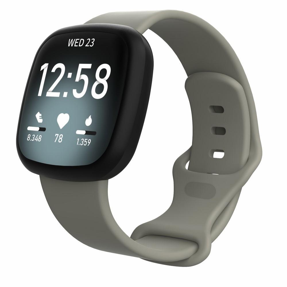 Silikonarmbånd Fitbit Versa 3/Sense grå (Small)