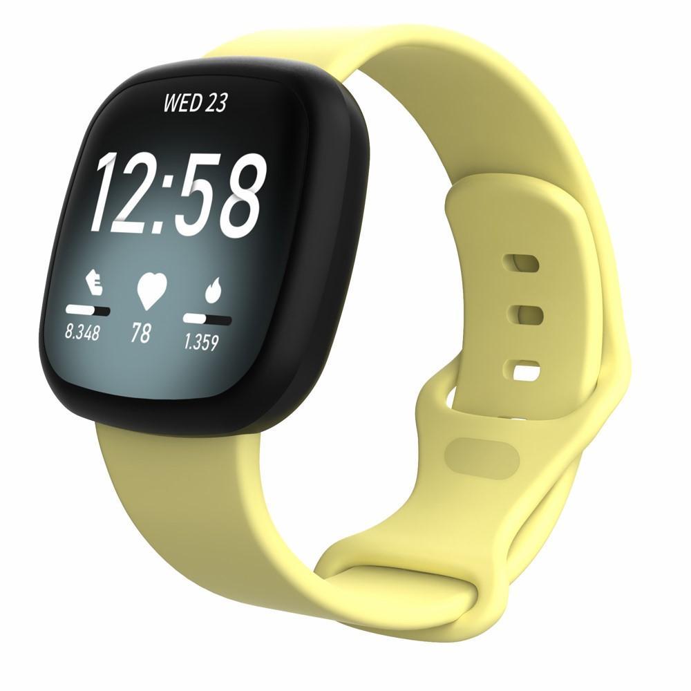 Silikonarmbånd Fitbit Versa 3/Sense gul (Small)