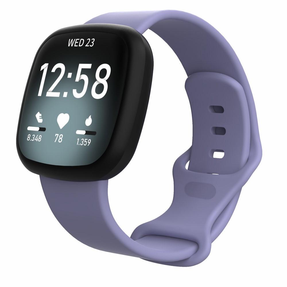 Silikonarmbånd Fitbit Versa 3/Sense lilla (Small)
