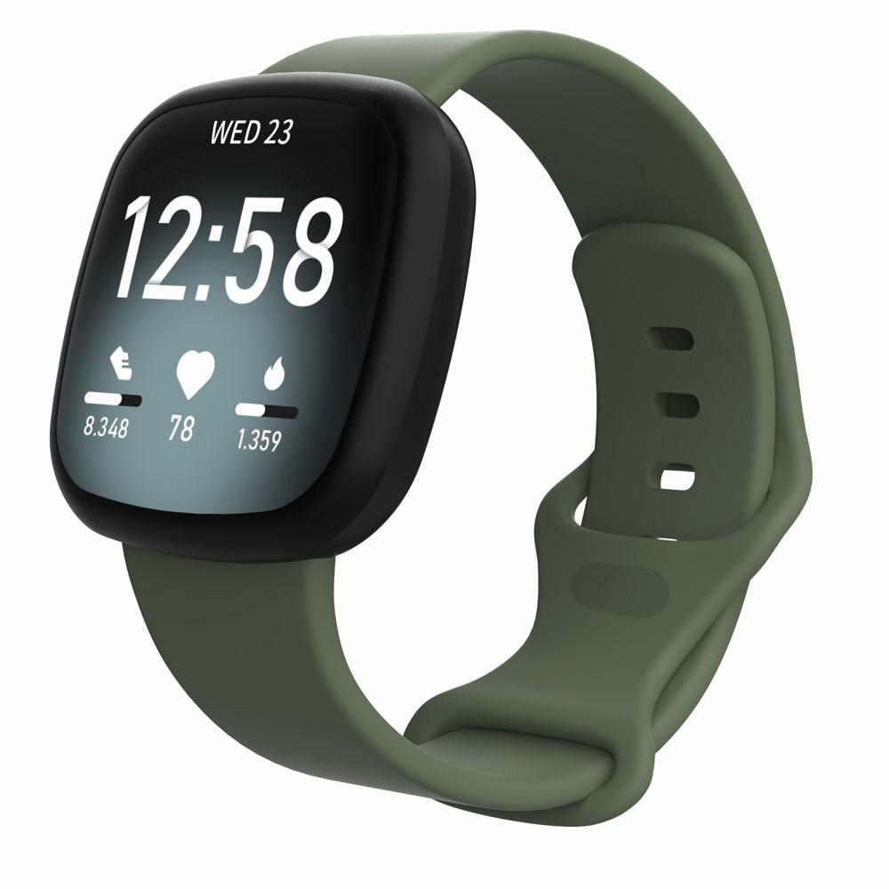 Silikonarmbånd Fitbit Versa 3/Sense grønn (Small)